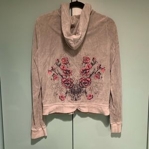 Juciy Couture Floral Zip Up